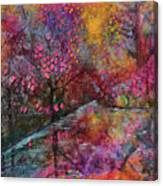 When Cherry Blossoms Fall Canvas Print