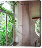 When Nature Takes Over - Abandoned Buildings Canvas Print