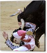 When The Bull Gores The Matador Iv Canvas Print