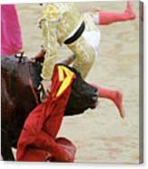 When The Bull Gores The Matador V Canvas Print