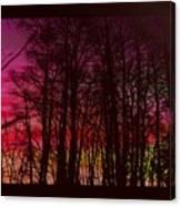 When The Deep Purple Falls Canvas Print