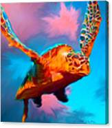 When Turtles Fly Canvas Print