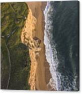 Where Land Meets The Sea Canvas Print