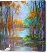 Where The Egret Lives Canvas Print