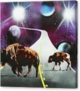 Where The Space Buffalo Roam II Canvas Print