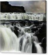 Where The Water Falls Canvas Print