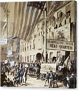 Whig Party Parade, 1840 Canvas Print
