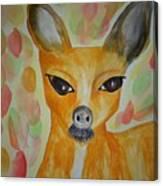 Whimsical Autumn Doe Canvas Print