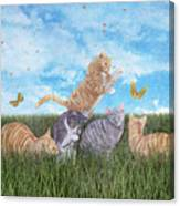 Whimsical Cats Canvas Print