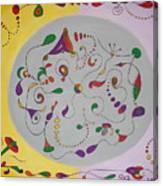Whimsical Circle Canvas Print