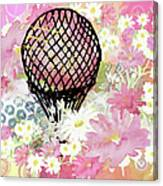 Whimsical Musing High In The Air Pink Canvas Print