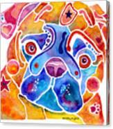 Whimsical Pug Dog Canvas Print