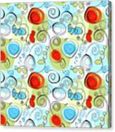Whimsical Seamless Pattern Canvas Print