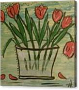 Whimsical Tulips Canvas Print