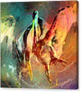 Whirled In Digital Rainbow Canvas Print