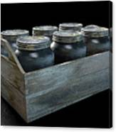 Whiskey Jars In A Crate Canvas Print