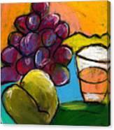 Whiskey  Pear  Grapes Canvas Print