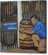 Whiskey Sleeping Canvas Print