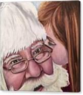 Whispered Wishes Santa  Canvas Print