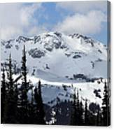 Whistler Mountain Peak View From Blackcomb Canvas Print