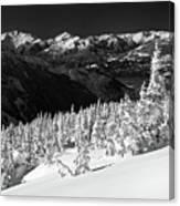 Whistler Mountain Winter Scenery Canvas Print