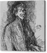 Whistler, Self-portrait.  Canvas Print