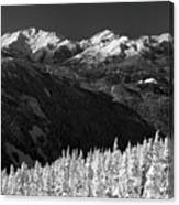 Whistler Winter Scenery Canvas Print