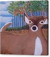 Whit Tall Buck Canvas Print