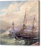 Whitby, 1883 Canvas Print