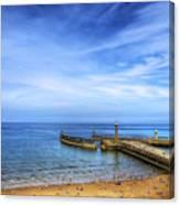 Whitby Beach Canvas Print