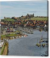 Whitby Marina And The River Esk Canvas Print