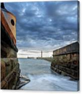 Whitby Morning Tide 2 Canvas Print