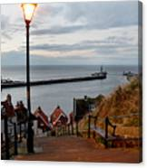 Whitby Steps Blue Hour Canvas Print