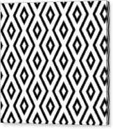 White And Black Pattern Canvas Print