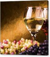 White And Red Wine Canvas Print
