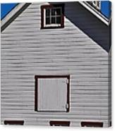 White Barn Canvas Print