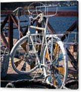 White Bike Canvas Print
