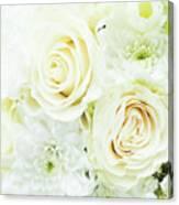 White Bouquet Canvas Print