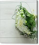 White Wedding Bouquet  Canvas Print
