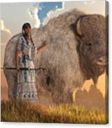 White Buffalo Calf Woman Canvas Print