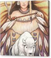 White Buffalo Woman Canvas Print