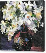 White Celebration Canvas Print