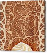White Chocolate Swirl Canvas Print