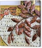 White Ckicken Canvas Print