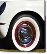 White Corvette Front Fender Canvas Print