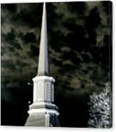 White Cross Dark Skies Canvas Print