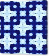 White Crosses And Blue Diamond Abstract Canvas Print