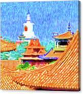 White Dagoba View Canvas Print
