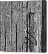 White Door Handle Canvas Print