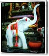 White Elephant. Meaning A Big Expensive Canvas Print